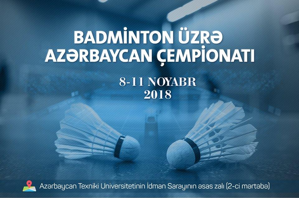 Badminton üzrə Azərbaycan çempionatı başlayır