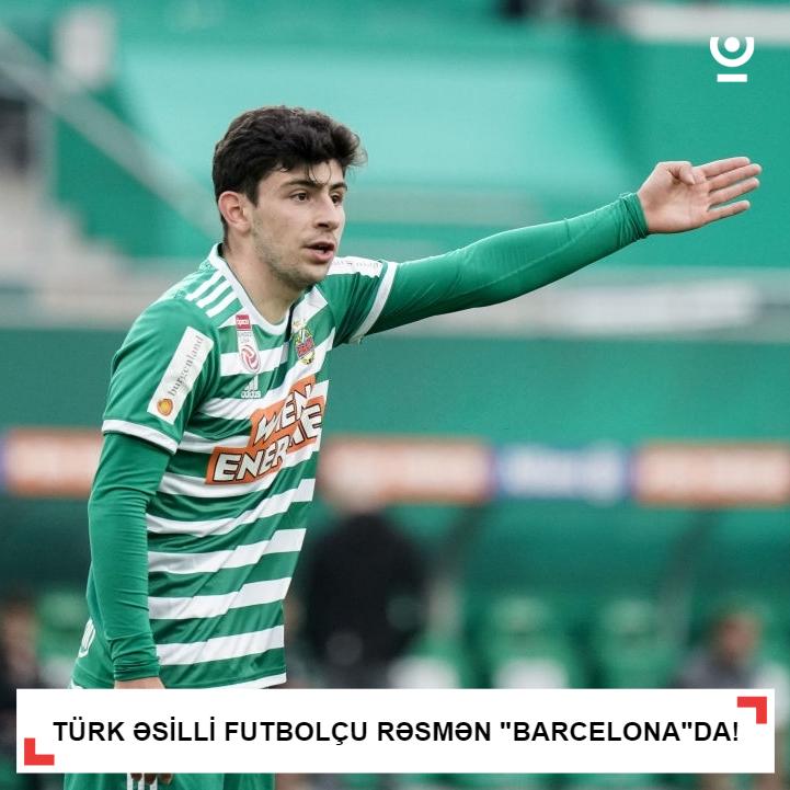 Türk əsilli futbolçu rəsmən