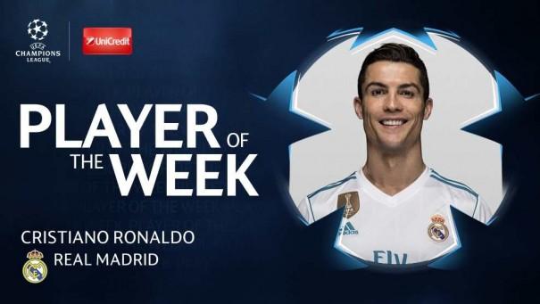 Ronaldo ÇL-də həftənin ən yaxşısı seçildi