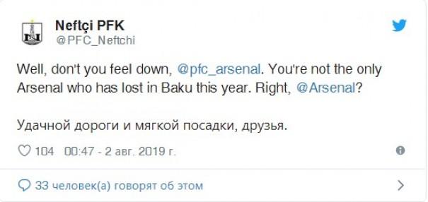 """Neftçi"" ""Arsenal""a təsəlli verdi"