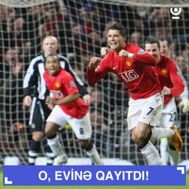 Cristiano Ronaldo evinə gəldi!